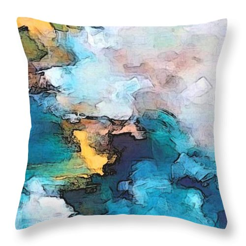 Abstract Throw Pillow featuring the digital art Sweet Memory Shades by Linda Mears