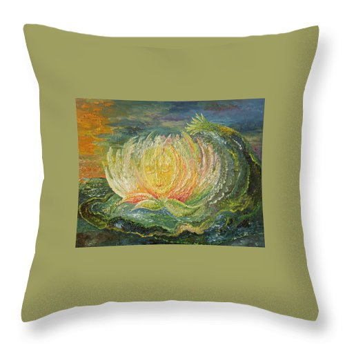 Flower Throw Pillow featuring the painting Sweet Morning Dream by Karina Ishkhanova