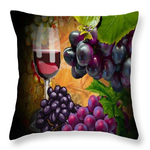 Wine Throw Pillow featuring the photograph Sweet Red Wine # 3 by G Berry
