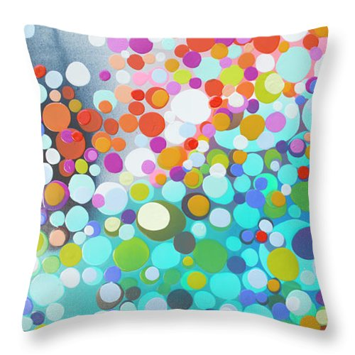 Abstract Throw Pillow featuring the painting Sweet Thing by Claire Desjardins