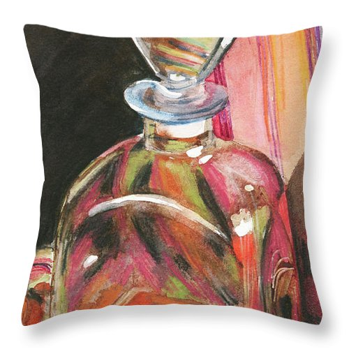 Glass Throw Pillow featuring the painting Sweetness by Trina Teele