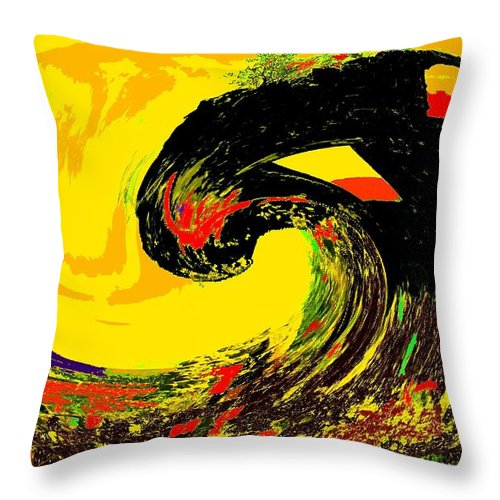 Abstract Throw Pillow featuring the photograph Swept Away by Ian MacDonald