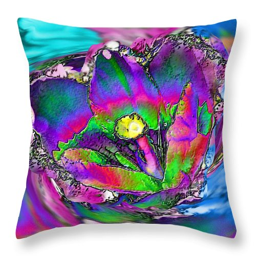 Flower Throw Pillow featuring the photograph Swept Away by Rose Guay
