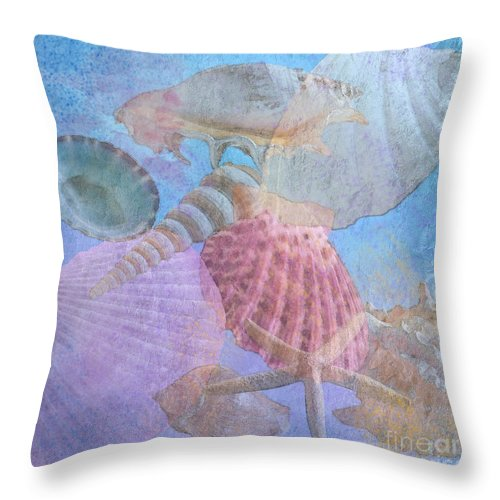 Shell Throw Pillow featuring the photograph Swept Out With The Tide by Betty LaRue