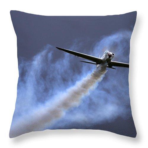 Swift Aerobatic Display Team Throw Pillow featuring the photograph Swift by Angel Ciesniarska