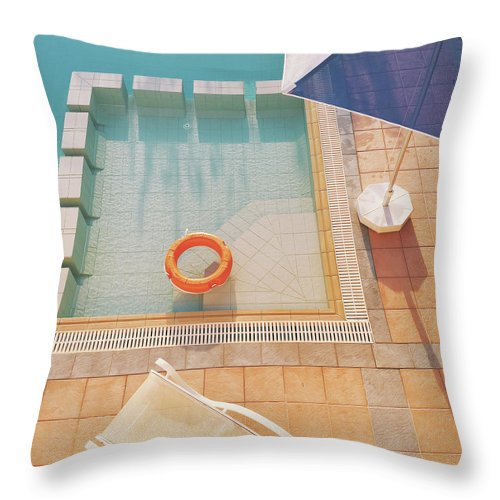 Water Throw Pillow featuring the photograph Swimming Pool by Cassia Beck
