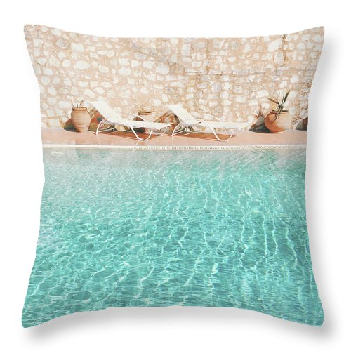 Water Throw Pillow featuring the photograph Swimming Pool V by Cassia Beck