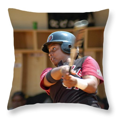Sports Throw Pillow featuring the photograph Swing by Mike Martin