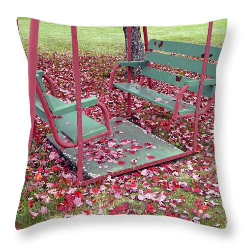Swing Set Throw Pillow featuring the photograph Swing Set by David Lee Thompson