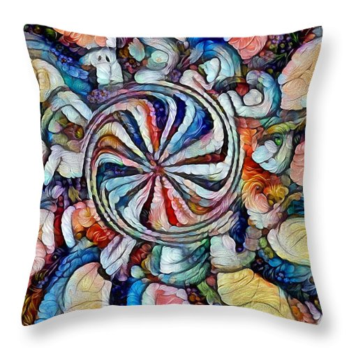 Swirls Throw Pillow featuring the digital art Swirl 12 by Michael Taylor