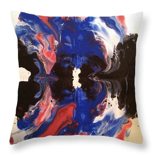 Swirl Throw Pillow featuring the painting Swirl by Jessica Baker