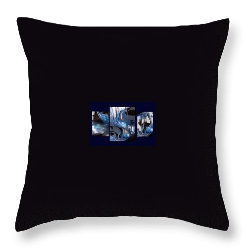 Abstract Of Betta In A Bowl Throw Pillow featuring the photograph Swirl by Steve Karol
