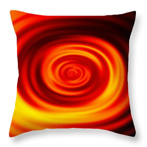 Swirled Throw Pillow featuring the digital art Swirled Sunrise by Rhonda Barrett
