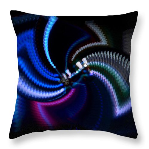 Chaos Throw Pillow featuring the photograph Swirlerator by Charles Stuart