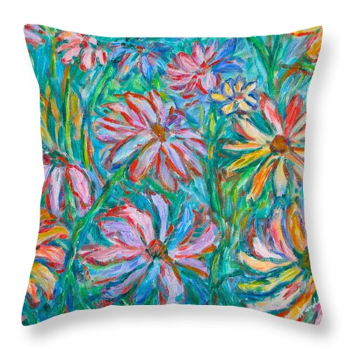 Impressionist Throw Pillow featuring the painting Swirling Color by Kendall Kessler