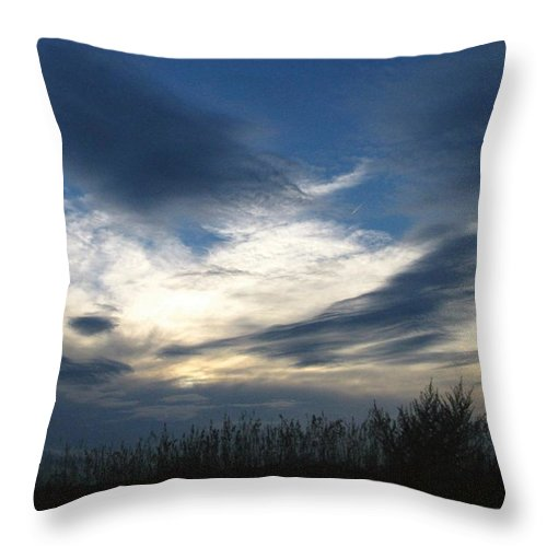 Sky Throw Pillow featuring the photograph Swirling Skies by Rhonda Barrett