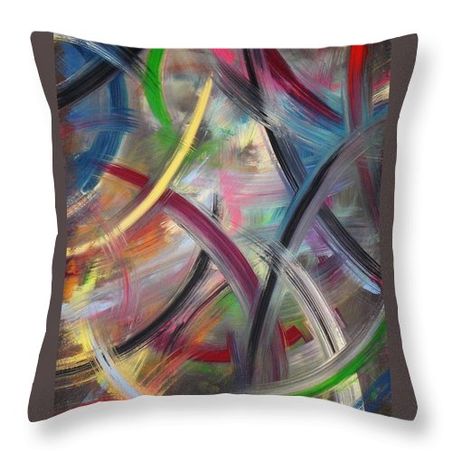 Acrylic Throw Pillow featuring the painting Swish by Todd Hoover