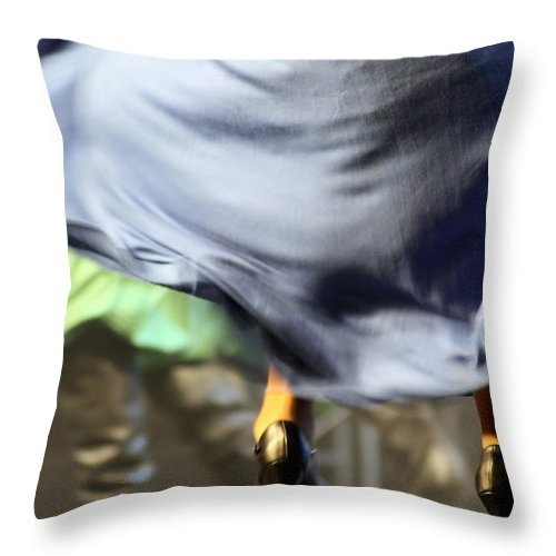 Skirt Throw Pillow featuring the photograph Swishhhhhhhhh by Jo Hoden