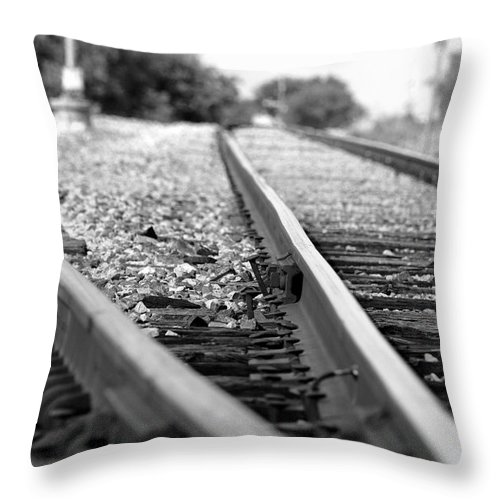 Rail Throw Pillow featuring the photograph Switch by Elizabeth Hart