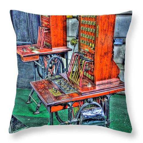 Switching Throw Pillow featuring the photograph Switchers by Francisco Colon