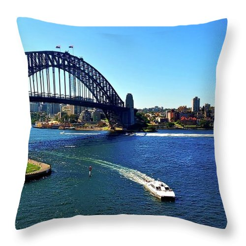 Sydney Throw Pillow featuring the photograph Sydney Harbor Bridge I by Kirsten Giving