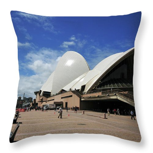 Australia Throw Pillow featuring the photograph Sydney Opera by Amos Gal