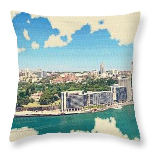 Sydney Throw Pillow featuring the digital art Sydney Serenade by Don Kuing