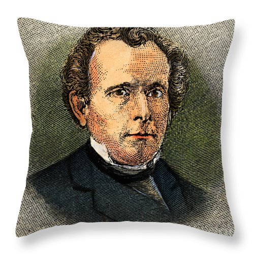 19th Century Throw Pillow featuring the drawing Sylvester Graham by Granger