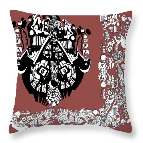 Throw Pillow featuring the digital art Symbology by Kenneth Greene