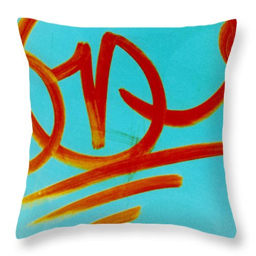Abstract Throw Pillow featuring the photograph Symbols by David Rivas