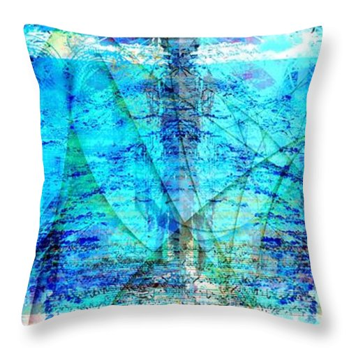 Abstract Throw Pillow featuring the digital art Symphonic Orchestra by Art Di