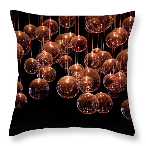 Bubble Throw Pillow featuring the photograph Symphony In The Dark by Evelina Kremsdorf