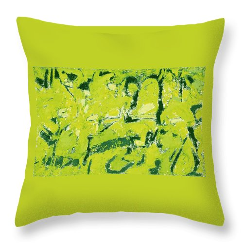 Abstraction Throw Pillow featuring the painting Symphony No. 8 Movement 19 Vladimir Vlahovic- Images Inspired By The Music Of Gustav Mahler by Vladimir Vlahovic