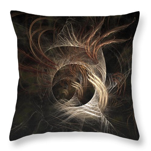 Abstract Throw Pillow featuring the digital art Synaptic by Casey Kotas