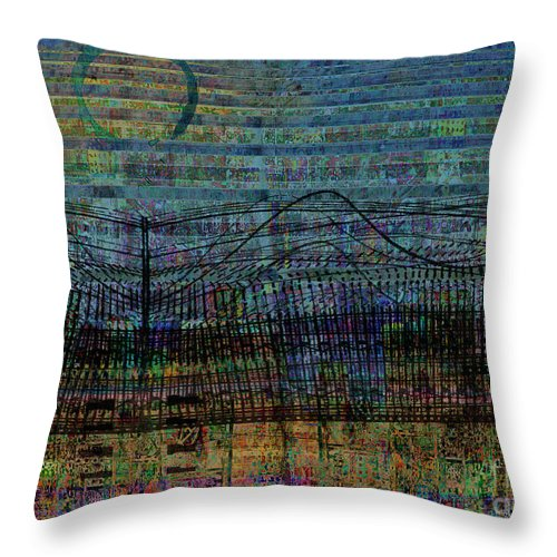 Undercurrent Throw Pillow featuring the digital art Synchronicity by Andy Mercer