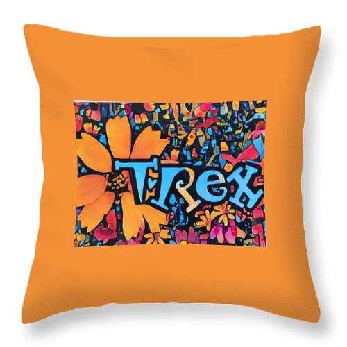 Logo Throw Pillow featuring the photograph T-rex by Patricia Rex