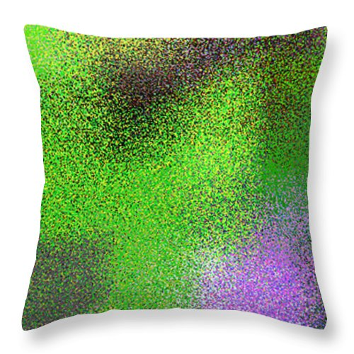 Abstract Throw Pillow featuring the digital art T.1.1476.93.1x3.1706x5120 by Gareth Lewis
