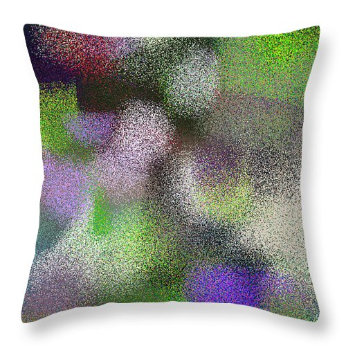 Abstract Throw Pillow featuring the digital art T.1.1482.93.3x5.3072x5120 by Gareth Lewis