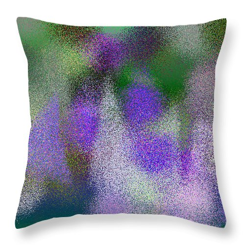Abstract Throw Pillow featuring the digital art T.1.1483.93.5x3.5120x3072 by Gareth Lewis