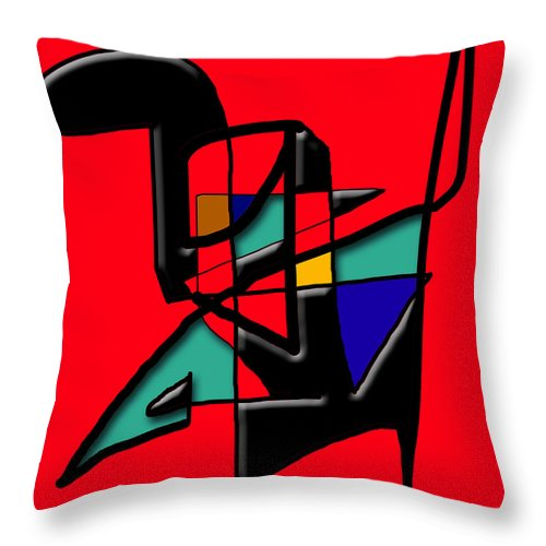 Modern Throw Pillow featuring the digital art Tactile Space  II  by Stephen Lucas