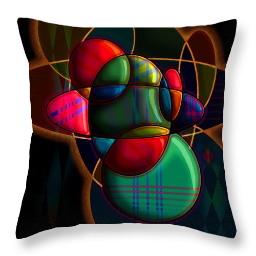 Modern Throw Pillow featuring the digital art Tactile Space I by Stephen Lucas