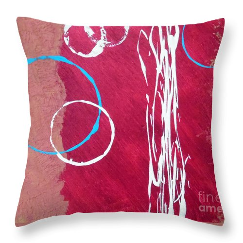 Rustic Abstract Throw Pillow featuring the painting Tahoe Texture by Jilian Cramb - AMothersFineArt