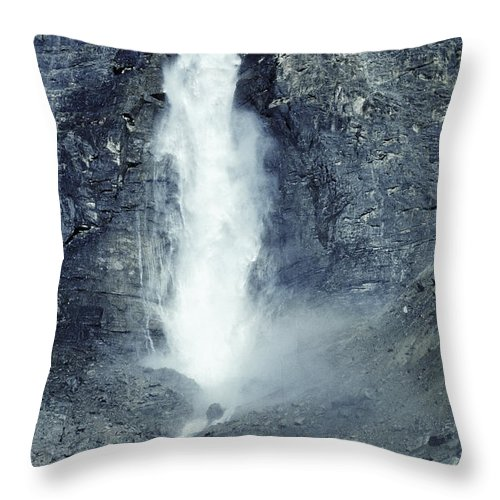Travel Throw Pillow featuring the photograph Takakkaw Falls by Steve Somerville