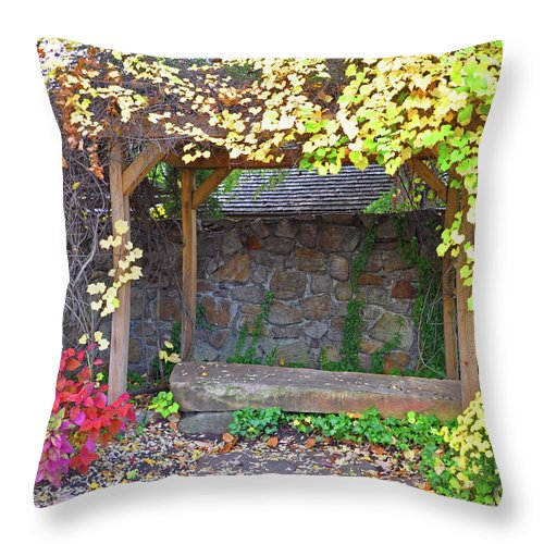 Mums Throw Pillow featuring the photograph Take A Seat by Brittany Horton