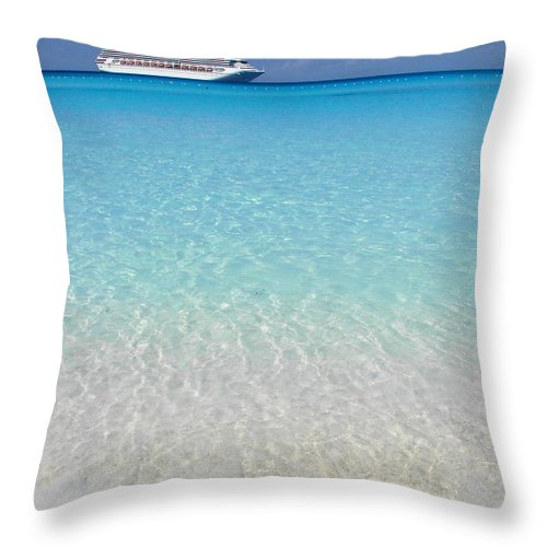 Caribbean Cruise Throw Pillow featuring the photograph Take Me Back To Half Moon Cay by Margaret Bobb