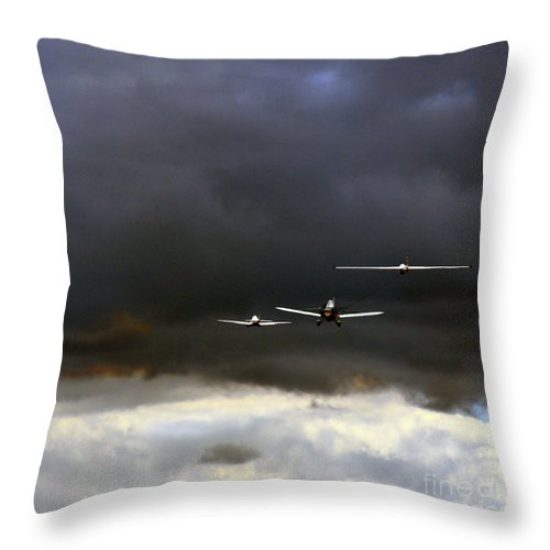 Swift Aerobatic Display Team Throw Pillow featuring the photograph Take Me With You by Angel Ciesniarska
