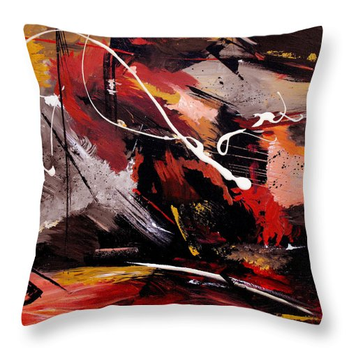 Abstract Throw Pillow featuring the painting Take To Heart by Ruth Palmer
