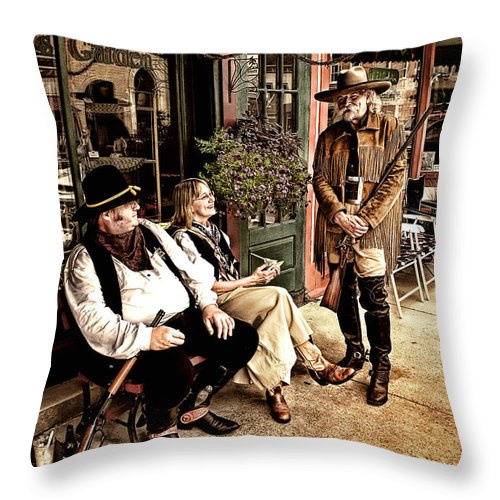 Photograph Throw Pillow featuring the photograph Taking A Break by Al Mueller