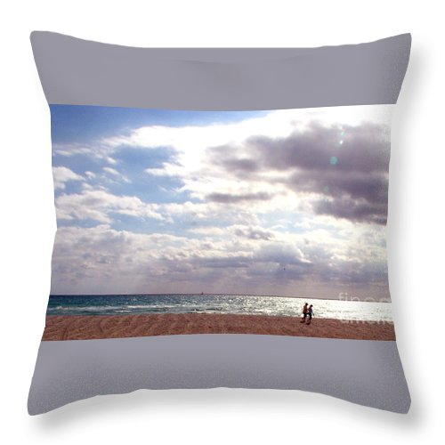 Walking Throw Pillow featuring the photograph Taking A Walk by Amanda Barcon