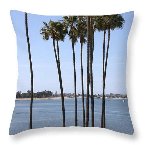 San Diego Throw Pillow featuring the photograph Tall Palms by Carol Groenen
